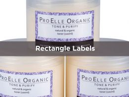 Printed Rectangle Label